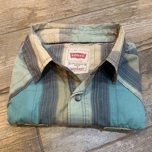 Levi's Pearl Snap Shirt Men's size S
